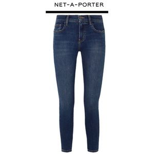 Current/Elliott Cropped High Rise Skinny Jeans NWT